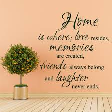 Quotes About Family Love Home Where Love Resides Memories Are Created Family Vinyl Wall 81