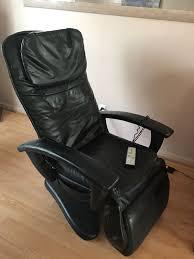 black leather massage chair. massage chair black leather works perfect htt 10 xl head neck back calf \u0026 feet (furniture) in kenosha, wi