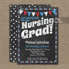 Nursing Graduation Party Invitations Nursing Graduation Party Invitation Red Blue Chalkboard