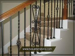wrought iron stair railing kits. Delighful Wrought Iron Stair Balusters Parts Iron Handrails Interior Stair Wrought  Railings Kits Intended Railing Kits T