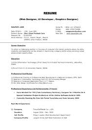 Resume Format Usa Fascinating Online Resume Format Example Of 48 Free Templates 48 For Word Best 248