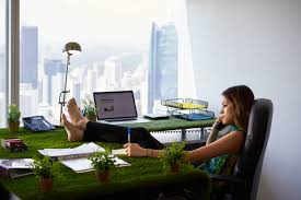 woman office furniture. Environmentalist Woman Writes Note Barefeet On Office Desk » Furniture O