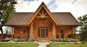 Small Picture Confederation Log and Timber Frame