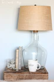 The Concrete Cottage Glass Bottle Lamp Diy Pottery Barn Knock Off