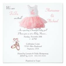 baby girl invite ballet tutu excited baby girl shower invitation
