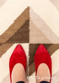 harman brown cream geometric contemporary rugs