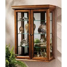Decorative Display Cases Amazoncom Design Toscano Country Tuscan Hardwood Wall Curio