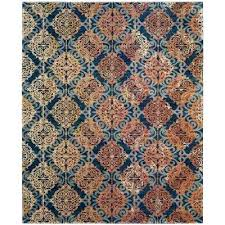 orange and blue area rug rugs evoke 8 ft x ameesha