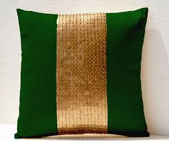 amazoncom amore beaute handmade throw pillows green gold color