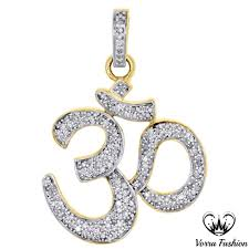 pd25298 2 pd25298 2 previous 18k yellow gold plated 925 sterling silver diamond hindu religious om pendant