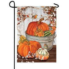 cotton fall flag lawn and garden flags