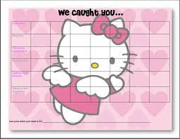 Hello Kitty Reward Chart Free Free Hello Kitty Printable Behavior Chart Craft Tacular