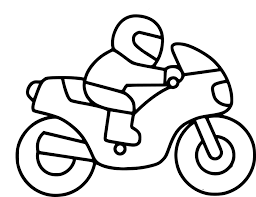 Coloriage Moto Enfant Imprimer Se Rapportant Dessin Enfant A