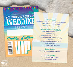 Festival Pier Seating Chart Malibu Beach Santa Monica California Wedding Stationery