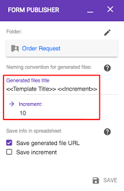 Choose A Relevant Title For Each File Created Documentation Form Interesting Increment Form