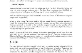 How To Make A Really Good Resume Write A Great Res As How To Cover Letter For Resume The Best