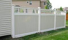 Fine Vinyl Privacy Fence Ideas Two Color With Design