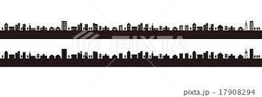 街のシルエットのイラスト素材 17908294 Pixta