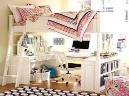 bed with desk under it to build a loft bed with desk underneath with white  color