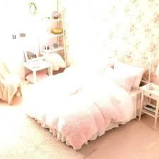 pink bed set queen bedding sets white girls cashmere wool velvet ruffle duvet cover sheets satin