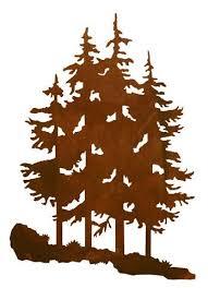 large metal pine tree wall art