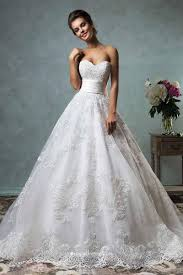 Strapless Sweetheart Neckline Vintage Ball Gown Lace Wedding Dress