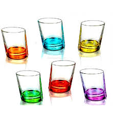 borgonovo pisa old fashioned coloured glass 280ml urbandazzle india