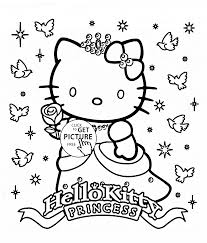 Small Picture Hello Kitty princess coloring page for kids for girls coloring