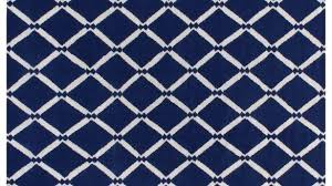 cobalt blue area rug and white