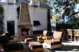 outdoor brick fireplace outdoor brick fireplace patio traditional with bar stool brown clapboard outdoor brick fireplace