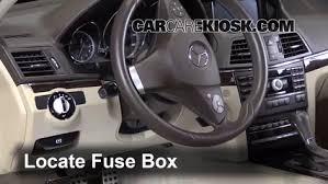 interior fuse box location mercedes benz e  locate interior fuse box and remove cover