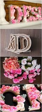 Monogram Decorations For Bedroom Cool Diy Ideas Tutorials For Teenage Girls Bedroom Decoration