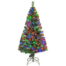 National Tree Company 5 ft. Fiber Optic LED Evergreen Artificial ...