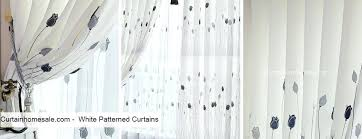 White Patterned Curtains Classy White Patterned Curtains Navy Blue And Whi Patrned Startuphoundco