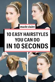Easy Hairstyles On The Go 10 Easy Hairstyles You Can Do In 10 Seconds Diy Hairstyles
