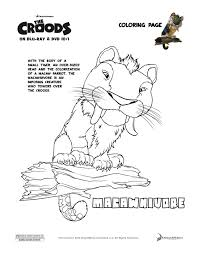 The Croods Macawnivore Coloring Page Enter
