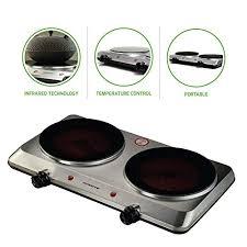 Electric stove Hanabishi Ovente Countertop Infrared Burner 1500 Watts Ceramic Double Plate Cooktop With Temperature Control Electric Stove Electric Stove Amazoncom