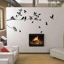 on tree wall art decals vinyl sticker with tree and bird wall stickers vinyl art decals ebay