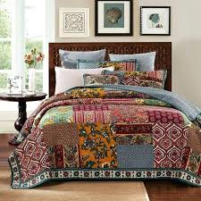 Quilts And Comforters – boltonphoenixtheatre.com & Dada Bedding Dark Elegance Cotton Real Patchwork Bohemian Quilted Bedspread  Coverlet Set Boho Bright Vibrant Quilts ... Adamdwight.com