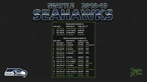 seattle seahawks 2018 19 wallpaper schedule