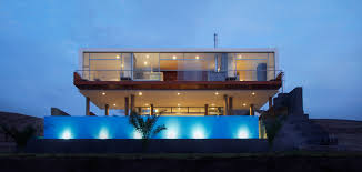 Contemporary Beach House Lima Peru Infinity Pool