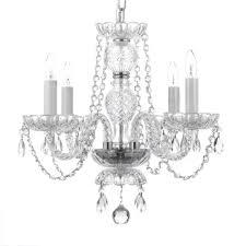 4 light venetian style empress crystal chandelier