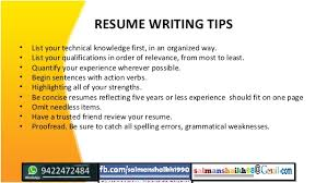 ... Tips On Writing Resume 3 RESUME WRITING TIPS ...