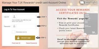tjma credit card login at tjx