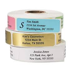 Printed Return Address Label Return Address Labels Roll Of 500 Personalized Labels White