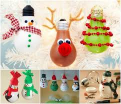 Creative Ideas - DIY Light Bulb Christmas Ornaments
