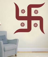 Small Picture Impression Wall Swastik Design Wall Sticker Buy Impression Wall