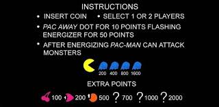 ms pac man videogame by midway manufacturing co ms pac man instruction card image