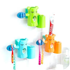 colorful bathroom accessories. Bathroom Accessories Kids Kid Sets Automatic Toothpaste Dispenser Bear Baby Toothbrush Holder Colorful Set C