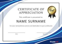 Employee Recognition Award Certificate Template Excellence